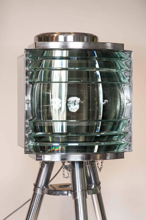 WWII Era Portable Lighthouse Light by AGA with Fourth Order Fresnel Lens 2