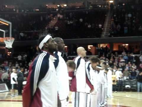 Lebron James throwing Devil horns,Illuminati Triangle & 666's at end of Anthem  LeBron James Exposed to Illuminati Move to Maimi http://www.youtube.com/watch?v=-M_ekUXLUu0  Miami heat illuminati sports http://www.youtube.com/watch?v=mKqef_onn9c