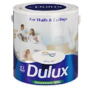 Dulux Silk White Mist 2.5L This Dulux Silk White Mist Paint offers a unique colour protection in a wipe clean delicate shine finish. A tester pot is available to see whether the paint is right for you. http://www.comparestoreprices.co.uk/paint/dulux-silk-white-mist-2-5l.asp