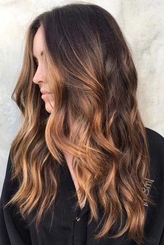 25 best ideas about caramel highlights on pinterest caramel hair highlights brunette - Ombre hair marron caramel ...