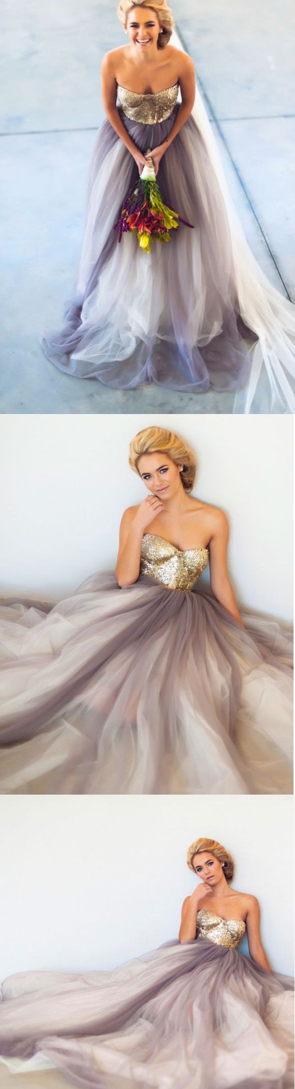Gray Prom Dresses,Gold Sequin Prom Dress,Sequined Prom Gown,Sequins Prom Gowns,Elegant Evening Dress,Modest Evening Gowns,Tulle Party Gowns,Sequins Prom Dress,Sweetheart Party Dress