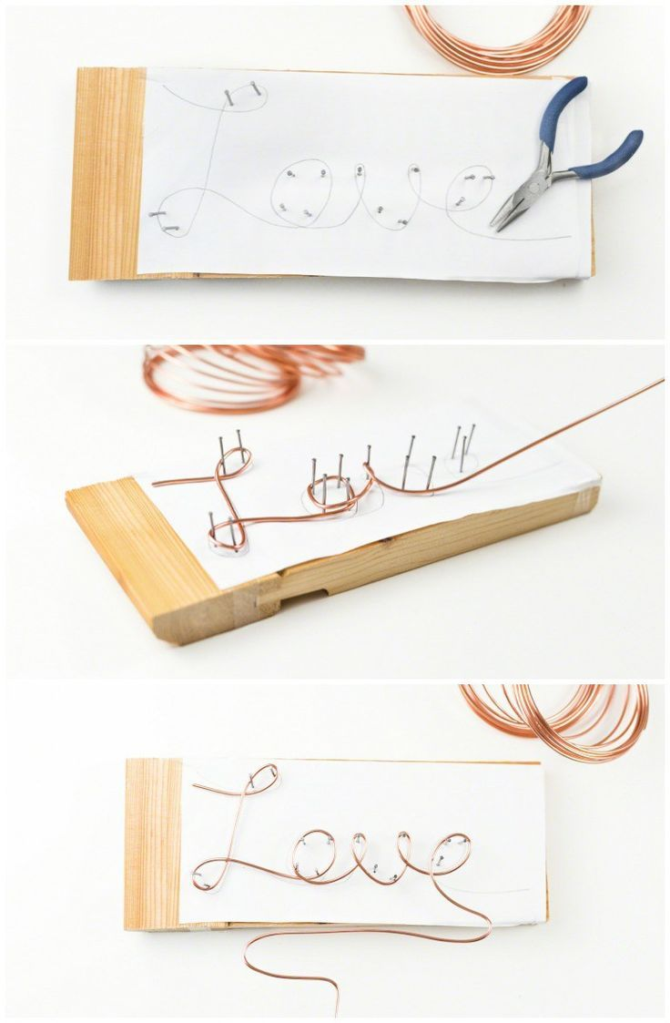 Instructions: DIY Cake Topper made of wire in copper itself
