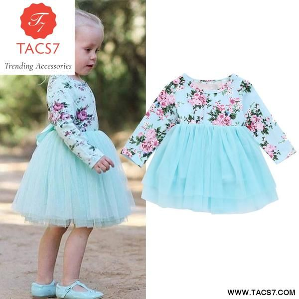 Toddler Baby Girl Spring Tutu Dress Long Sleeve Layered Tulle Party Wedding Tops