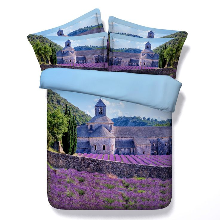 find more bedding sets information about luxury purple lavender manor print 4 pcs duvet cover sets bed linen100 cotton 3d bedding sets twin queen king