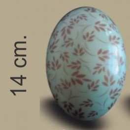 Categoría: Moldes Plasticos - Producto: Molde Huevo Pascua Con Transfer Nº 14 Hojas Bronce - Envase: Bolsa - Presentación: X    4 Unid. - Marca: Lodiser