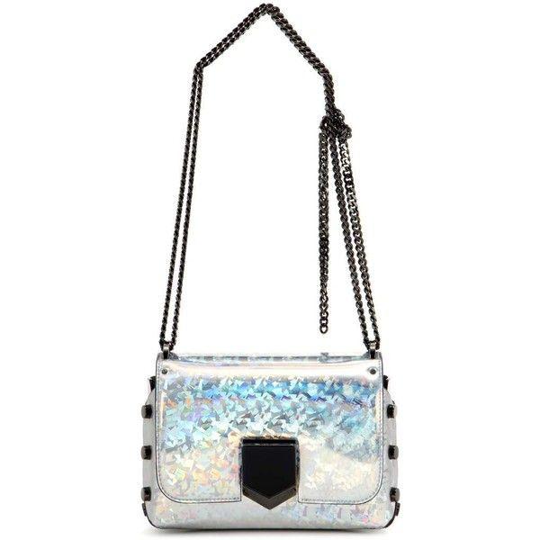 Jimmy Choo Lockett Petite Shoulder Bag ($1,085) ❤ liked on Polyvore featuring bags, handbags, shoulder bags, metallic, silver shoulder bag, silver metallic handbags, shoulder bag handbag, jimmy choo purses and jimmy choo