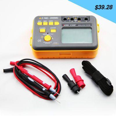 Great item for everybody. Tesistance tester VC60B + megameter 250V/500V/1000V digital insulation - US $39.28 http://shoppingcenter8.info/products/tesistance-tester-vc60b-megameter-250v500v1000v-digital-insulation/