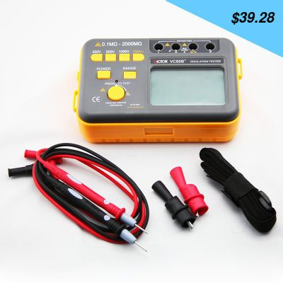 Great item for everybody. Tesistance tester VC60B + megameter 250V/500V/1000V digital insulation - US $39.28 http://shoppingcenter8.info/products/tesistance-tester-vc60b-megameter-250v500v1000v-digital-insulation/