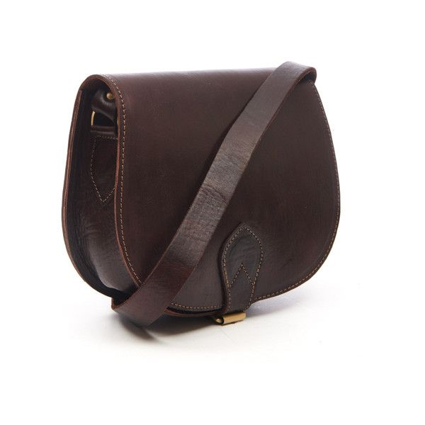 Chocolate Sam Leather Saddle Bag ($86) ❤ liked on Polyvore featuring bags, handbags, shoulder bags, vintage leather handbags, leather saddle bags, flap shoulder bag, leather shoulder bag and horse saddle bags