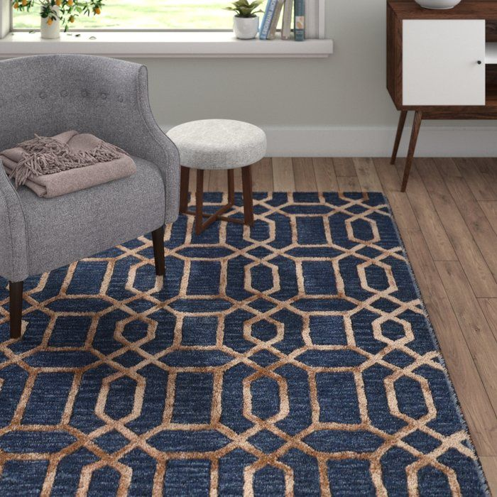 Vegas Hand Tufted Dark Blue Area Rug With Images Dark Blue Rug