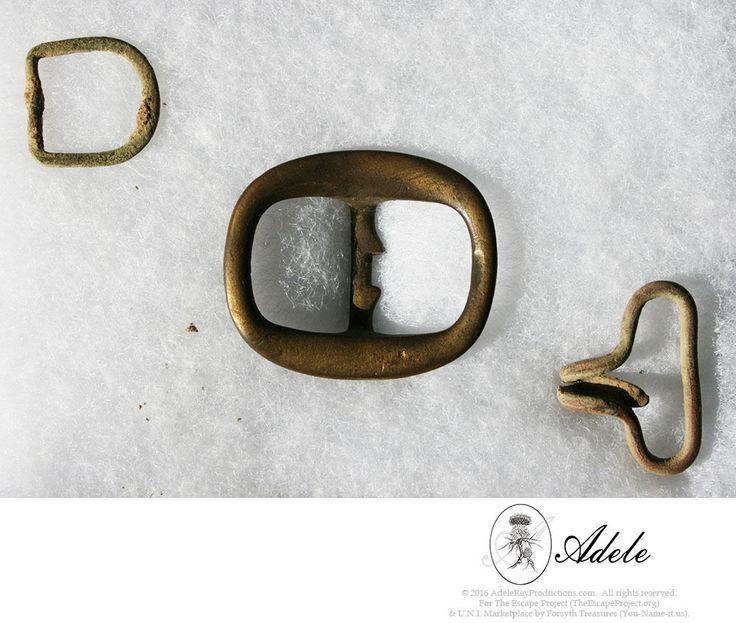 Civil War Relics - Different Brass Buckles:  Spur Strap, Knapsack & Harness