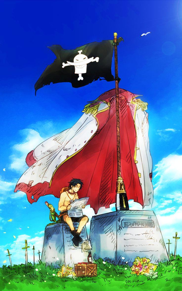 """""""Souvenir"""" • R.I.P {Ace et Barbe-Blanche} ~ Capitaine : Edward Newgate """"Barbe-Blanche"""" ⭐ Ace Portgas D. [Commandant de la 2ème Flotte de Barbe-Blanche] ~ ⚓️_One_Piece_ ⚓️"""