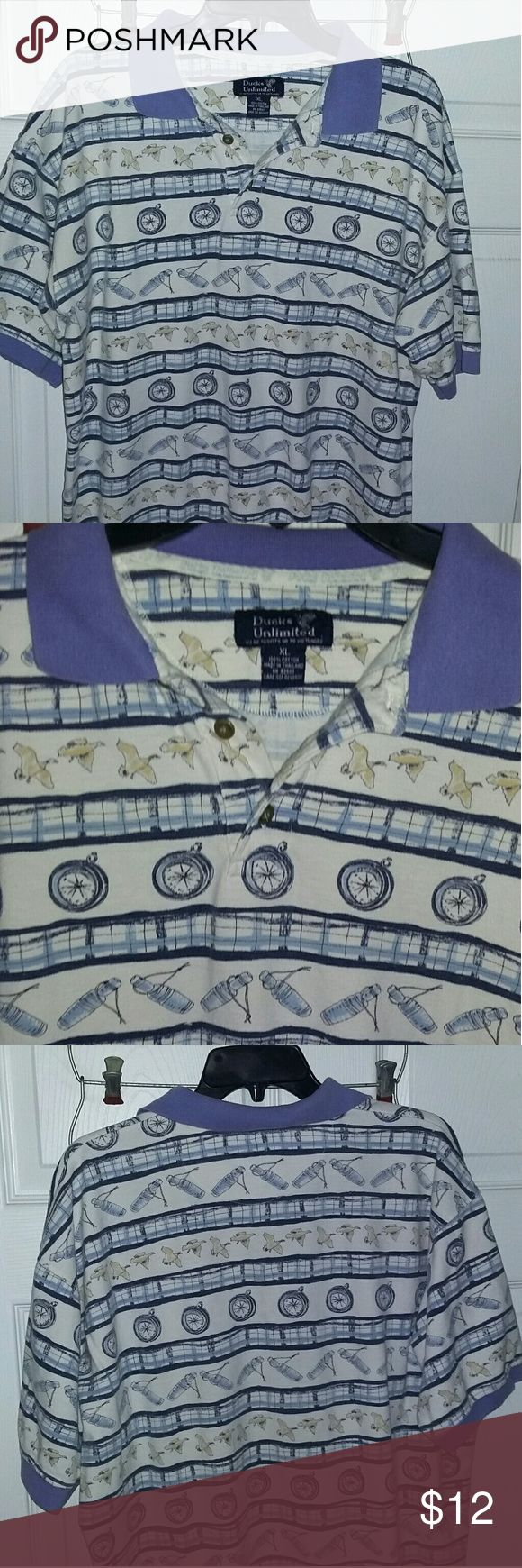 Ducks Unlimited print polo XL mens ducks unlimited printed polo. Size XL Shirts Polos