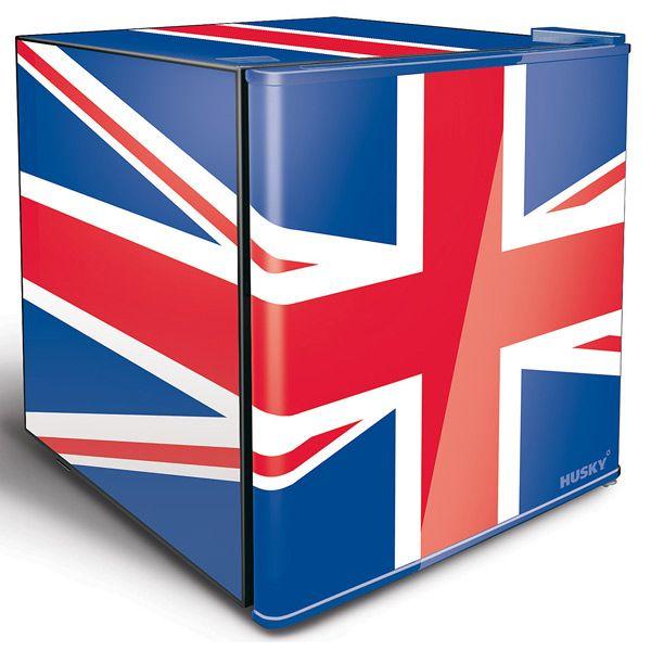 Husky Union Jack Refrigerator   Mini Fridge Husky Fridge Beer Fridge - Buy at drinkstuff