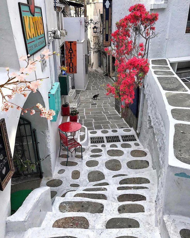 Picturesque street of ios island (Ίος)❤️
