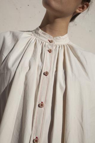 Caron Callahan Maria Shirt Dress in Vintage Poplin | Oroboro Store | Brooklyn…
