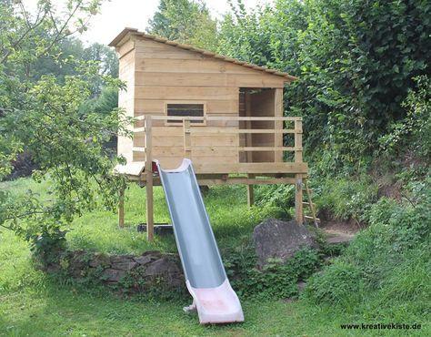 2 Spielhaus mit rutsche selber bauen