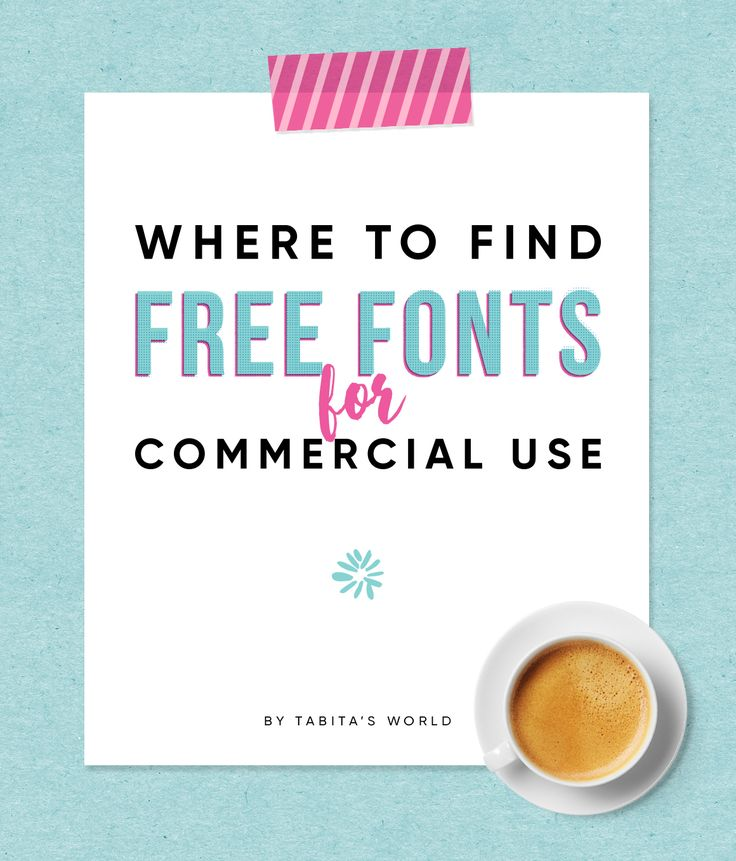 Where to find and download free fonts for commercial use. #fonts #font #commercial #purpose #use #download #type #graphic #design #tips #licensing #commercial-free #blogger