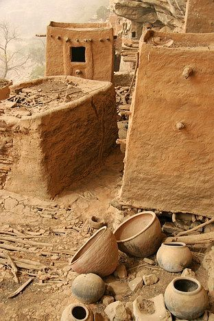 Africa | Typical architecture from the Dogons.  Mopti, Djenne, Mali