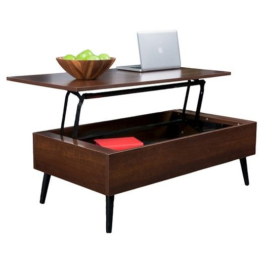The Christopher Knight Home Elliot Computer Coffee Table provides a unique way to store your belongings. It has solid mid-section that opens and lifts to use as a computer or writing desk. Allowing for seating with easy access to the hidden storage space below.