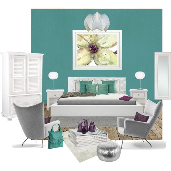 Teal Bedroom Furniture. A Contemporary Teal Blue Bedroom With Grey ...