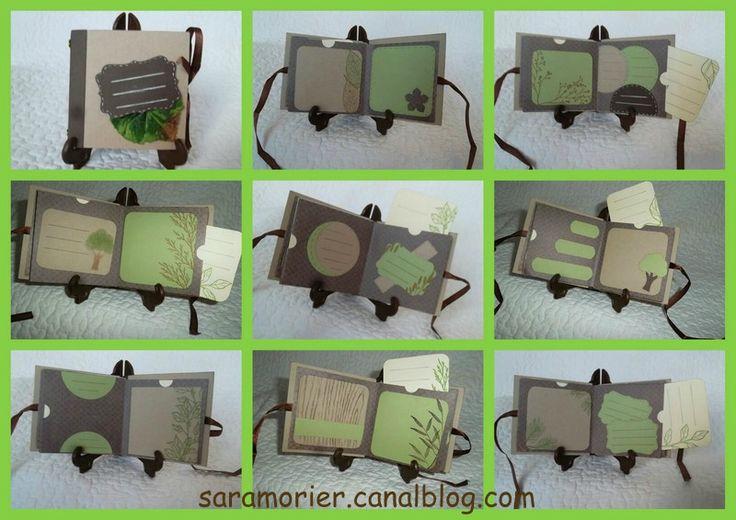 Mini Album Scrapper en vert et chocolat