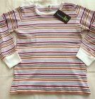 Children's L/S  Top in Warm Stripes