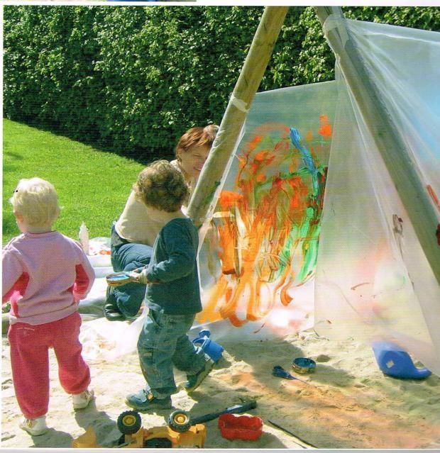 Kunstnerisk liv med små børn.