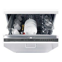 IKEA - RENGÖRA, Lave-vaisselle encastrable, Permet de laver jusqu'à 13 couverts à la fois en utilisant seulement 12 litres d'eau : brillance garantie et économie d'eau et d'énergie.Dispose de 5 programmes à choisir selon le type de vaisselle et les besoins.Panier supérieur réglable en hauteur, pour y placer des assiettes et verres de différentes tailles.Le système Aqua-stop coupe automatiquement l'alimentation en eau en cas de fuite.La fonction départ différé permet…