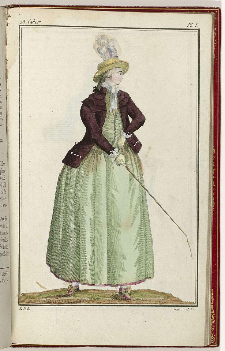 Cabinet des Modes ou les Modes Nouvelles, 15 Septembre 1786, pl. I, A.B. Duhamel, L, Buisson, 1786