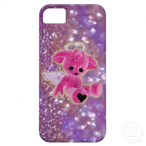 Sold! Thanks to my customer in Pontcharra, France! My Angel... Purple Glitter iPhone 5 Case