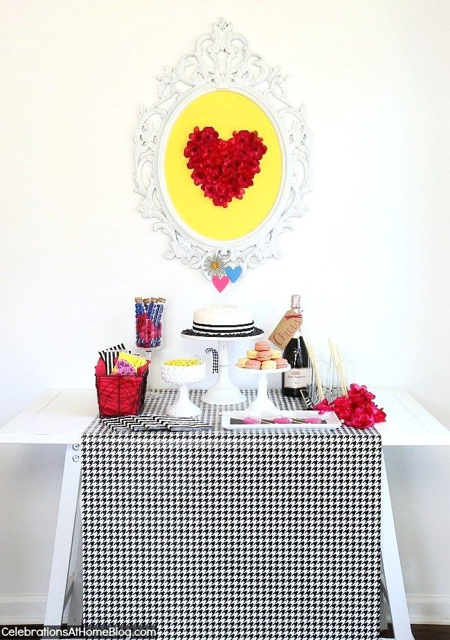 Betsey Johnson inspired dessert table. Would be cute for Valentine's day too.