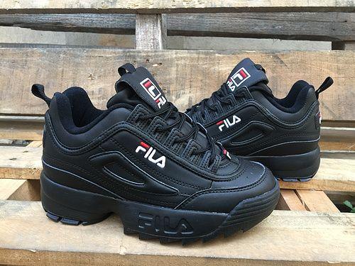 a8d098f2 All Black Original foreign trade original United States Fila ...