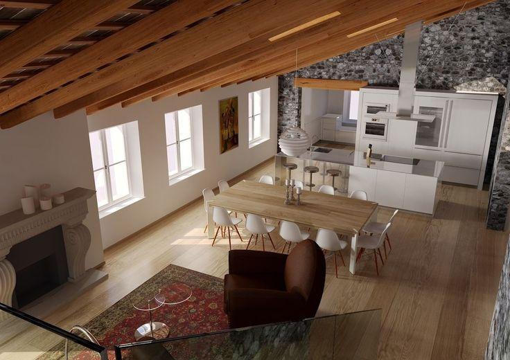 Un #attico in un antico palazzo