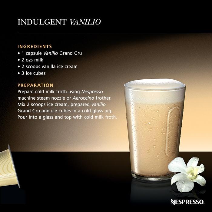 Indulgent Vanilio | Discover a great recipe and enjoy a superb Nespresso moment!