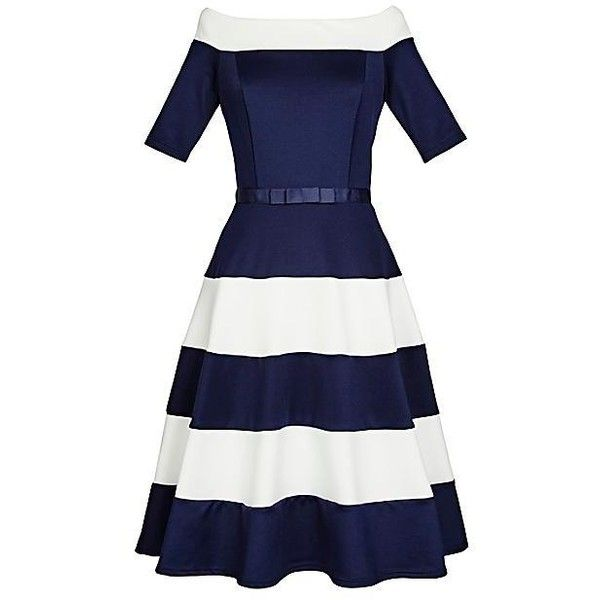 Stripe Prom Dress by Kaleidoscope | Kaleidoscope ($9,405) ❤ liked on Polyvore featuring dresses, striped dress, white stripe dress, kaleidoscope dress, white dress and white prom dresses