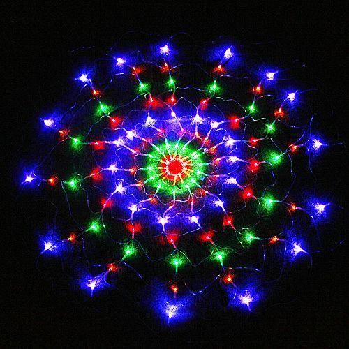 Colorful RGB LED Net Light Christmas Party Wedding EU