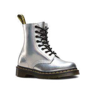Dr.Martens ドクターマーチン PASCAL IM 8EYE BOOT 23551073 SILVER LAZER 8ホール ブーツ レディース メタリック|ddr