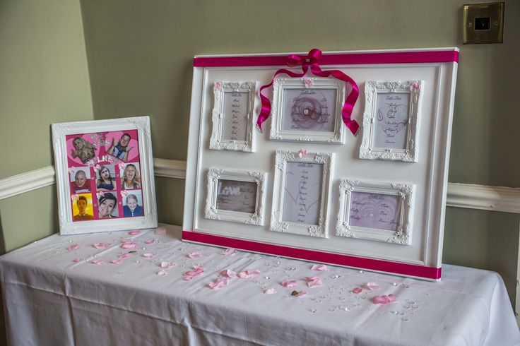 Very girly and very pink seating plan, for those fairy tale Weddings.