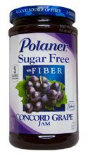Polaner sugar free preserves. why: contains fiber. the apricot preserves has only 1g net carbs per serving
