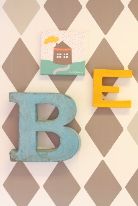 letters on the wall. for letters try Bloomingville. www.bloomingville.com: Diy Blog, Bibelotte Sfeer, Room Inspiration, Decorated Letters, Kids Room, Baby Room, Baby Nursery, Wooden Letters, Channel Letters