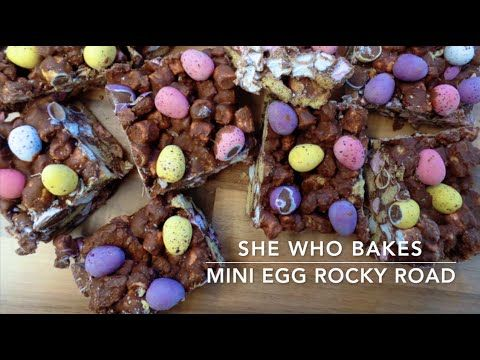 Mini Egg Rocky Road - She Who Bakes