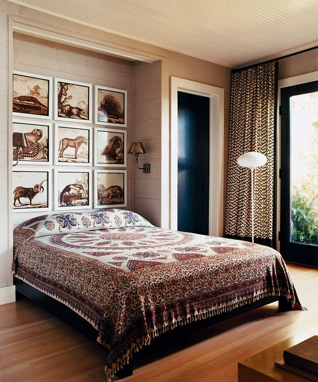Red and Taupe Bedroom