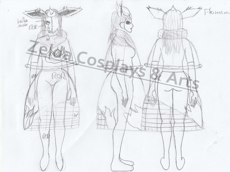Flamara Cosplay Entwurf