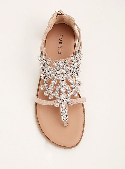 e88ee504a518 Gemstone T-Strap Sandals (Wide Width)Gemstone T-Strap Sandals (Wide Width)