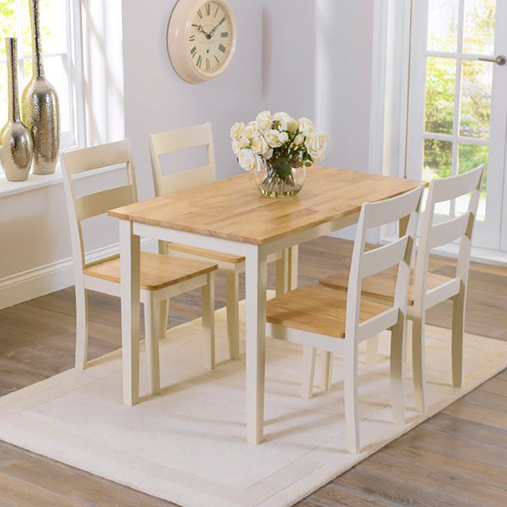 Shop The Ex Display Chiltern Oak And Cream Dining Set With 2 Chairs Bench At Furniture Superstore Quick Delivery APR Available