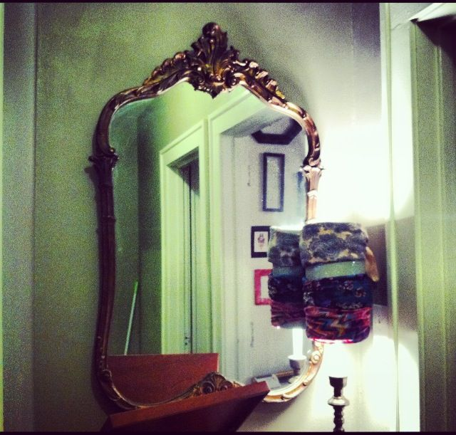 antique wooden baroque inspired mirror