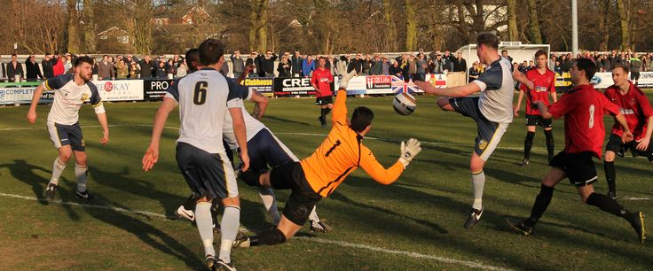 Tadcaster Albion come close in their FA Vase Quarter Final against Highworth Town, March 2015.