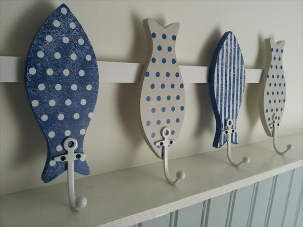 Wooden Fish Coat Hooks