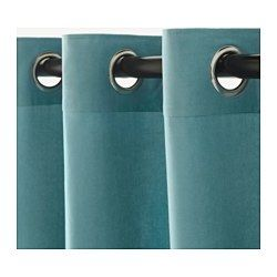"""IKEA - SANELA, Curtains, 1 pair, 55x98 """", , The thick curtains darken the room and provide privacy by preventing people outside from seeing into the room.Cotton velvet gives depth to the color and is soft to the touch.The eyelet heading allows you to hang the curtains directly on a curtain rod."""